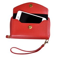 Royce Leather Saffiano Slim Cell Phone Wallet