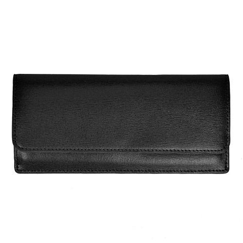 Royce Leather RFID-Blocking Saffiano Clutch