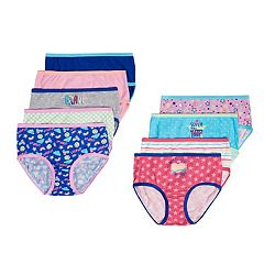 074301678884 Girls 4-14 SO® 9-pk. Patterned Briefs