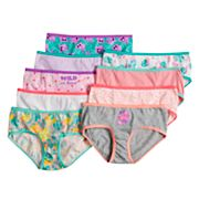 Girls 6-10 SO® 9 pkPrint & Solid Hipster Panties