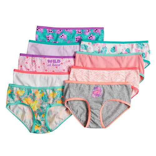 Girls 6-10 SO® 9-pk. Print & Solid Hipster Panties