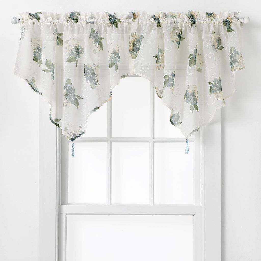 CHF Waterlilly Scroll Ascot Valance - 54