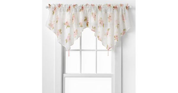 Kohls Wedding Registry Gift Card : CHF Waterlilly Scroll Ascot Valance - 54 25