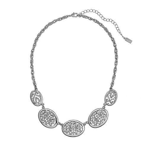 1928 Filigree Oval Necklace