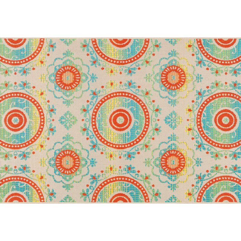 Sonoma Outdoors Bright Medallion Indoor Outdoor Rug 5 X