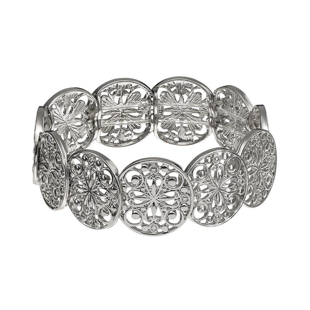 1928 Filigree Stretch Bracelet