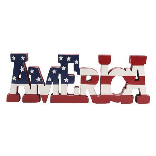 Patriotic ''America'' Decor