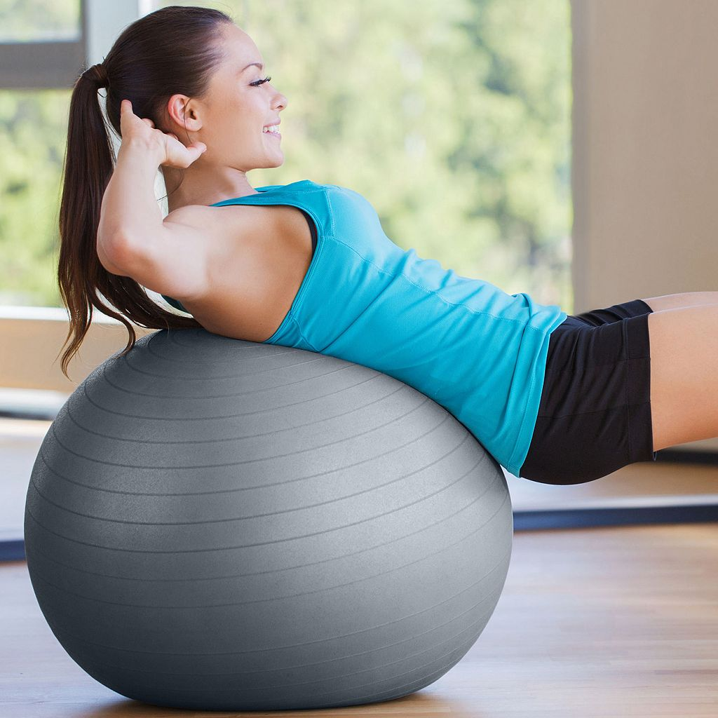 Pure Fitness 29.5-in. Fitness Ball with Pump