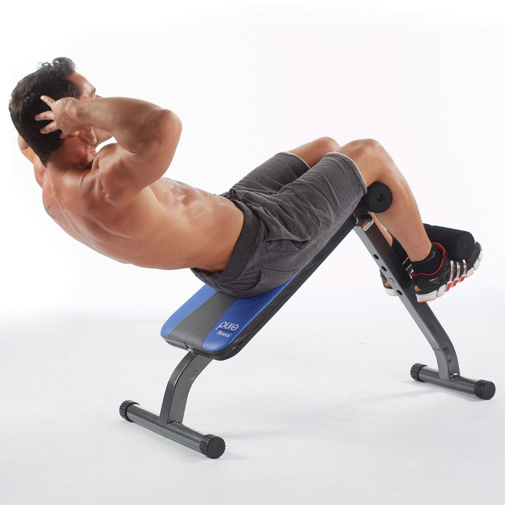 Pure Fitness Ab Crunch and Sit-Up Bench