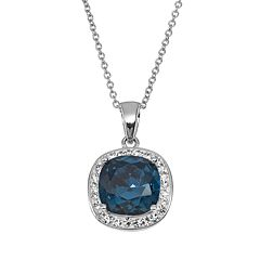 Silver-Plated Crystal Halo Pendant