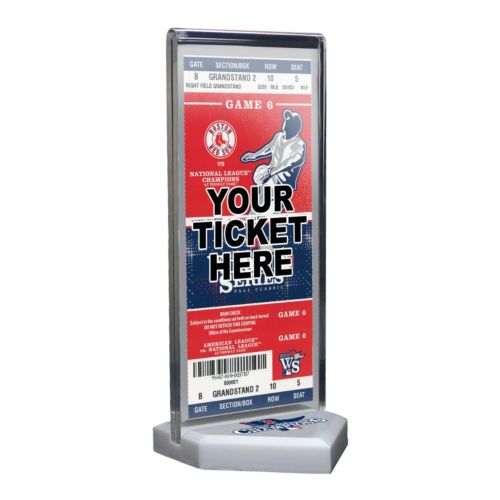 Boston Red Sox 2013 World Series Champions Home Plate Ticket Display Stand