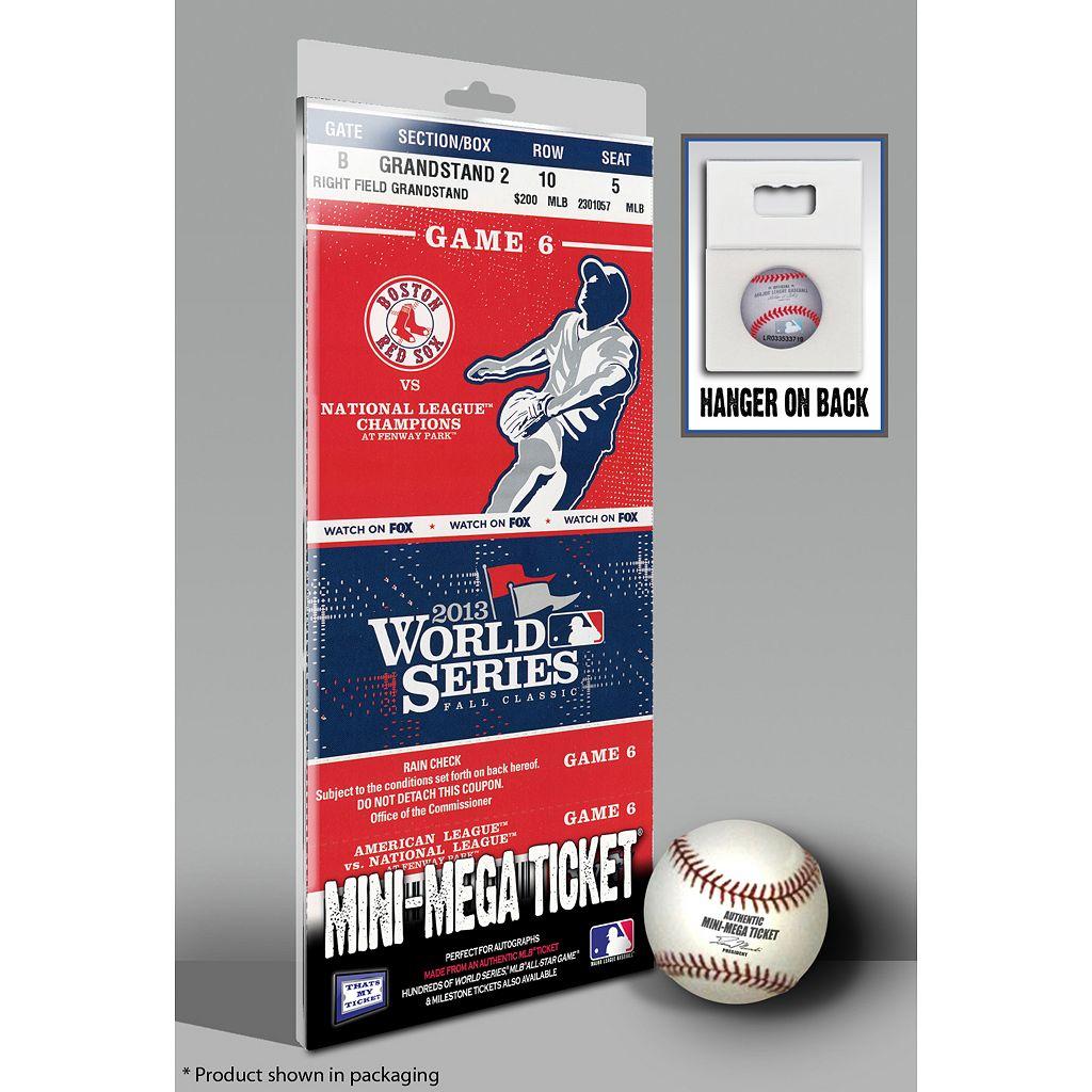 Boston Red Sox 2013 World Series Game 6 Mini-Mega Ticket