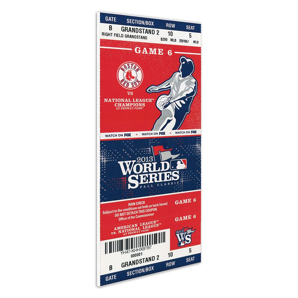Boston Red Sox 2013 World Series Game 6 Mega Ticket
