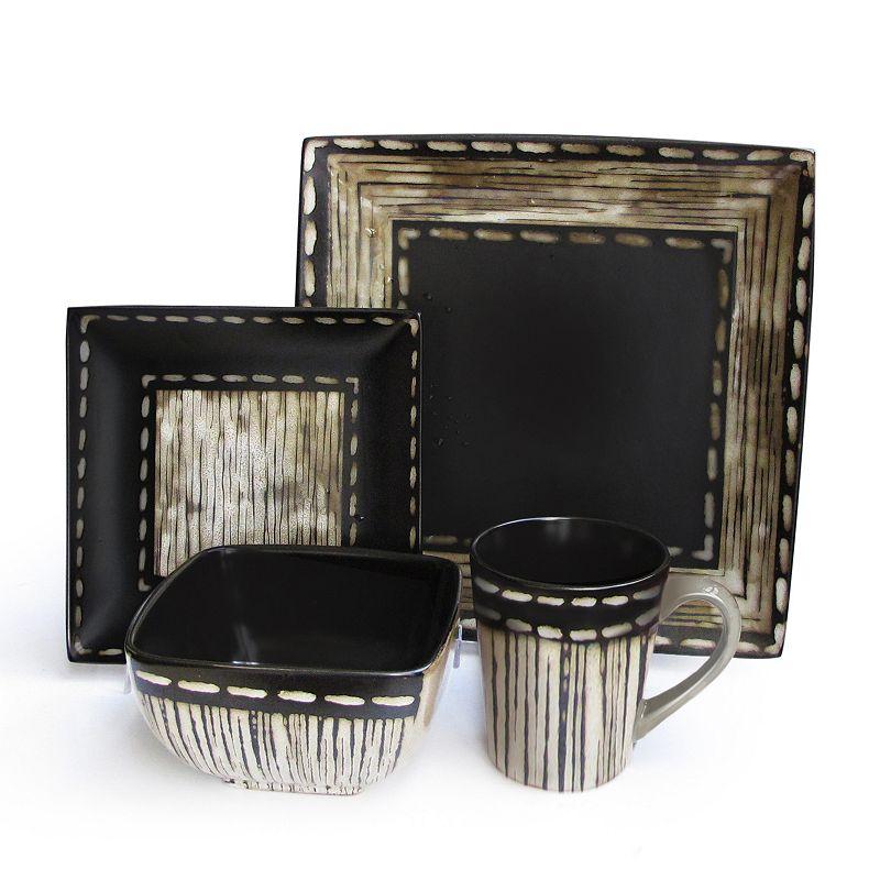 square stoneware dinnerware set kohl 39 s