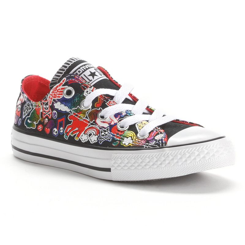 Converse Chuck Taylor All Star Sticker Print Sneakers for Girls