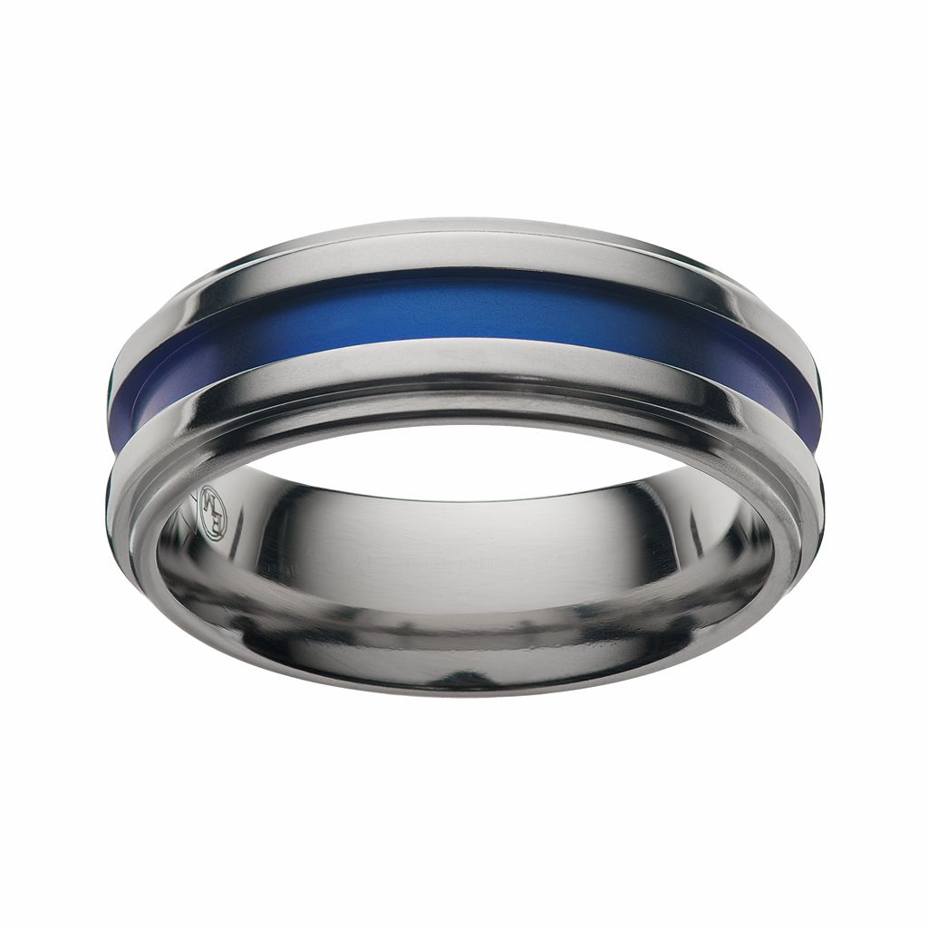 STI by Spectore Gray Titanium Stripe Band - Men