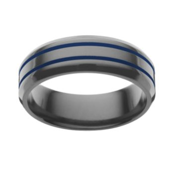 STI by Spectore Black Titanium Stripe Band - Men