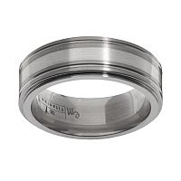 STI by Spectore Gray Titanium & Sterling Silver Band - Men
