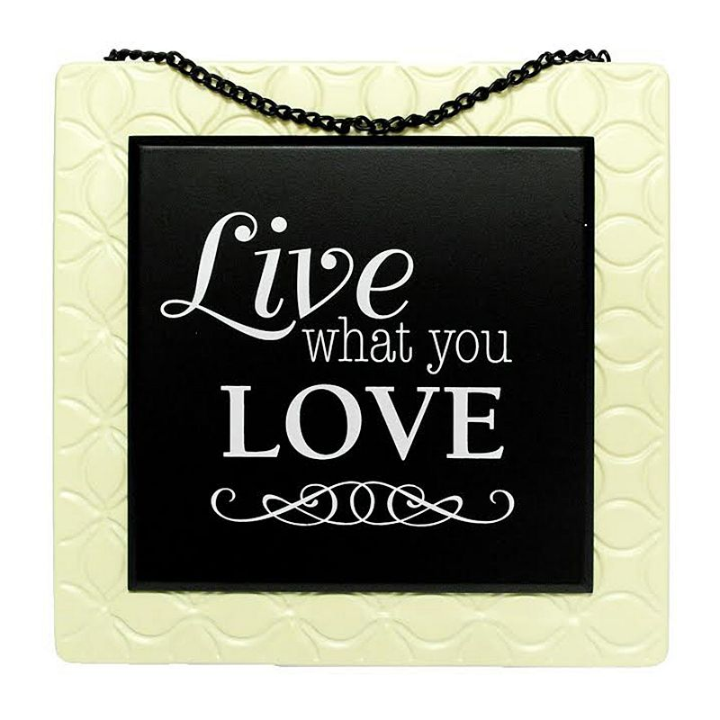 New View Live What You Love Metal Wall Art