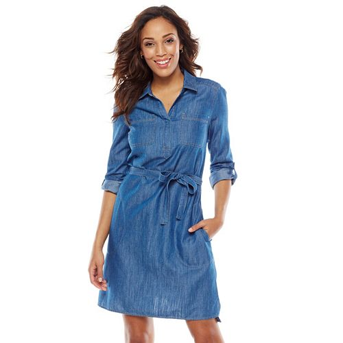 SONOMA Goods for Life™ Chambray Shirtdress - Women's