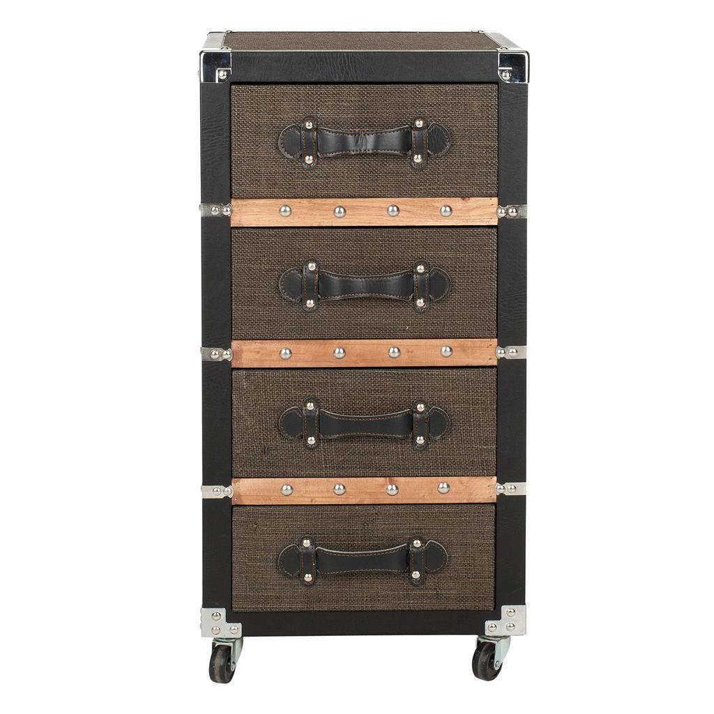 Safavieh Brent 4-Drawer Rolling Storage Chest