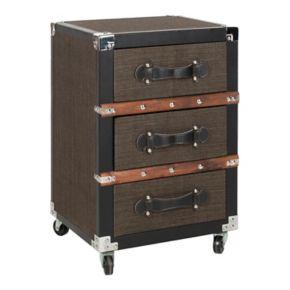 Safavieh Lewis 3-Drawer Rolling Storage Chest