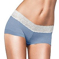 Maidenform Cotton Dream Lace-Trim Boyshorts 40859 - Women's