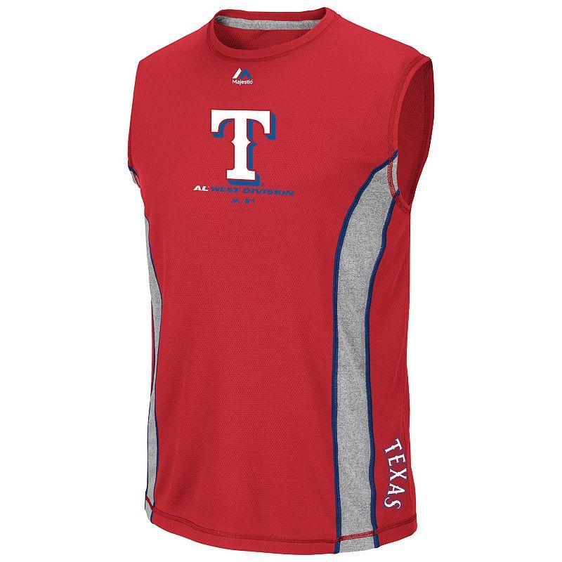 Majestic Texas Rangers Big Time Attitude Sleeveless Top - Men