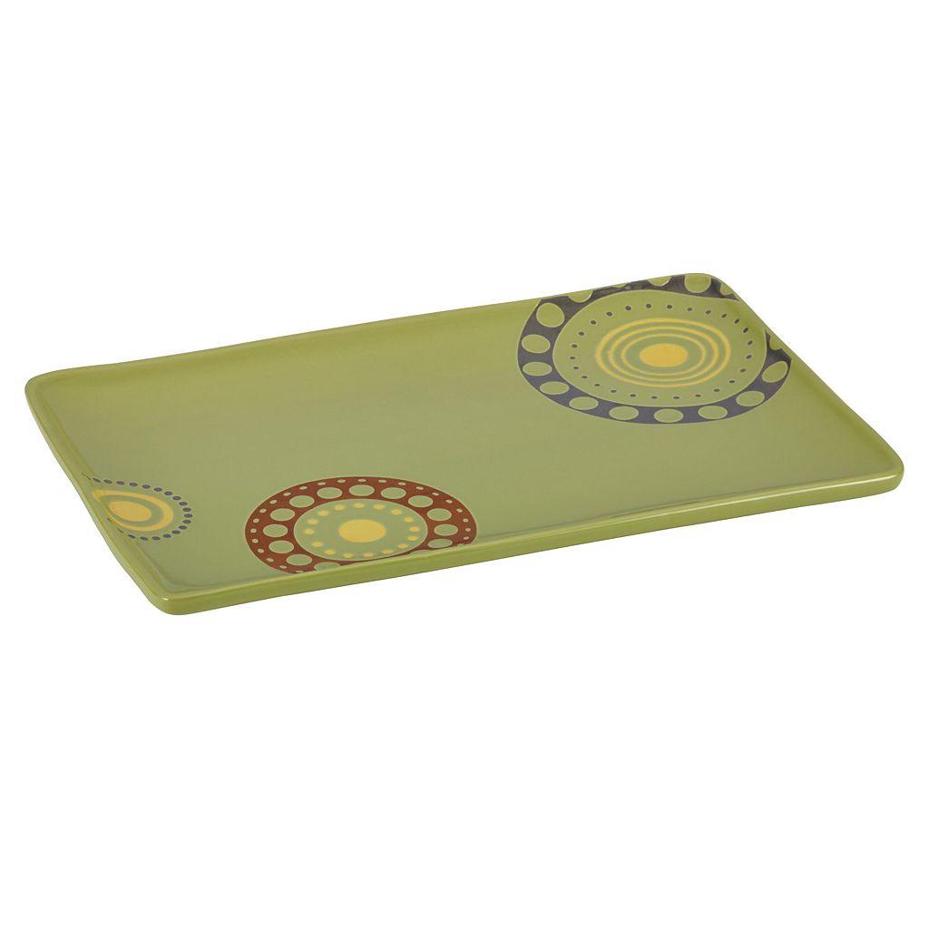 Rachael Ray Circles & Dots Rectangular Serving Platter