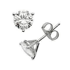 Forever Brilliant 14k White Gold 2 ctT.W. Lab-Created Moissanite Stud Earrings