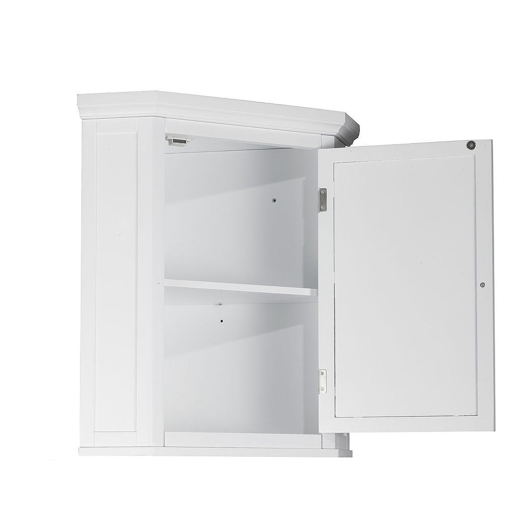 Elegant Home Fashions Saddie Corner Wall Cabinet