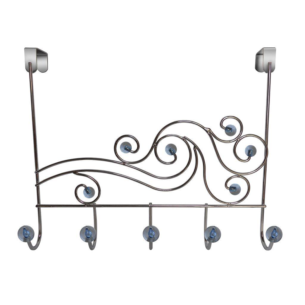 Elegant Home Fashions Phoenix Over-The-Door 5-Hook Metal Hanger
