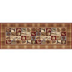 KHL Rugs Nature Lodge Plaid Rug Runner - 2'7' x 7'3'