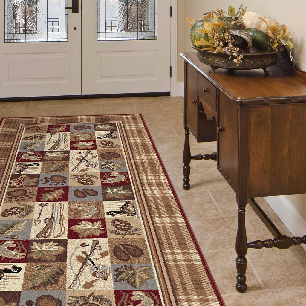 KHL Rugs Nature Lodge Plaid Rug Runner - 2'7'' x 7'3''