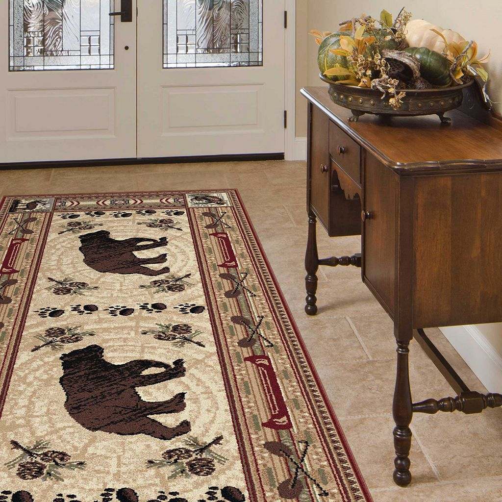 KHL Rugs Nature Lodge Bear Rug Runner - 2'7'' x 7'3''