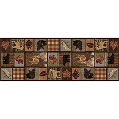 KHL Rugs Nature Lodge Deer Rug Runner - 2'7' x 7'3'