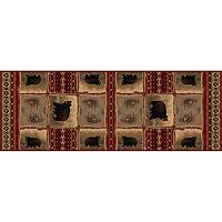 KHL Rugs Nature Lodge Bear Rug Runner - 2'7