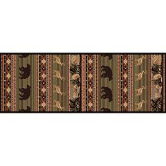 KHL Rugs Nature Lodge Bear Rug Runner - 2'7' x 7'3'