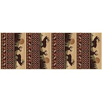 KHL Rugs Nature Lodge Elk Rug Runner - 2'7