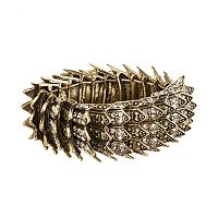 GS by gemma simone Gold Tone Simulated Crystal Spike Stretch Bracelet