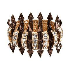 GS by gemma simone Two Tone Simulated Crystal Studded Arrow Stretch Bracelet
