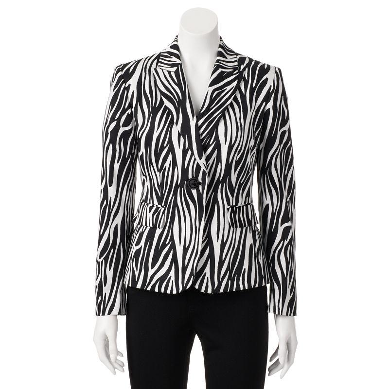 STUDIO Tahari-Levine Co. Zebra Jacket - Women's