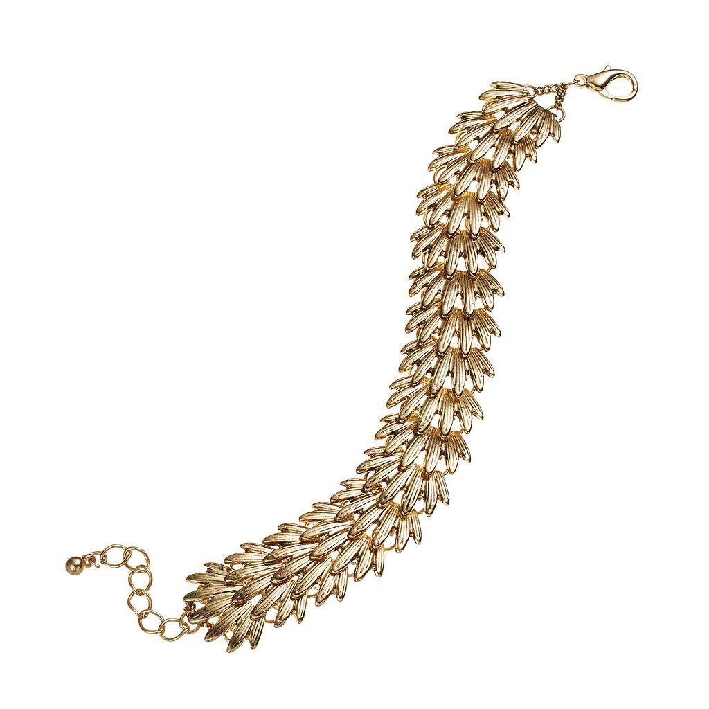 GS by gemma simone Gold Tone Art Deco-Inspired Bracelet