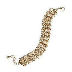 GS by gemma simone Gold Tone Art Deco-Inspired Bracelet