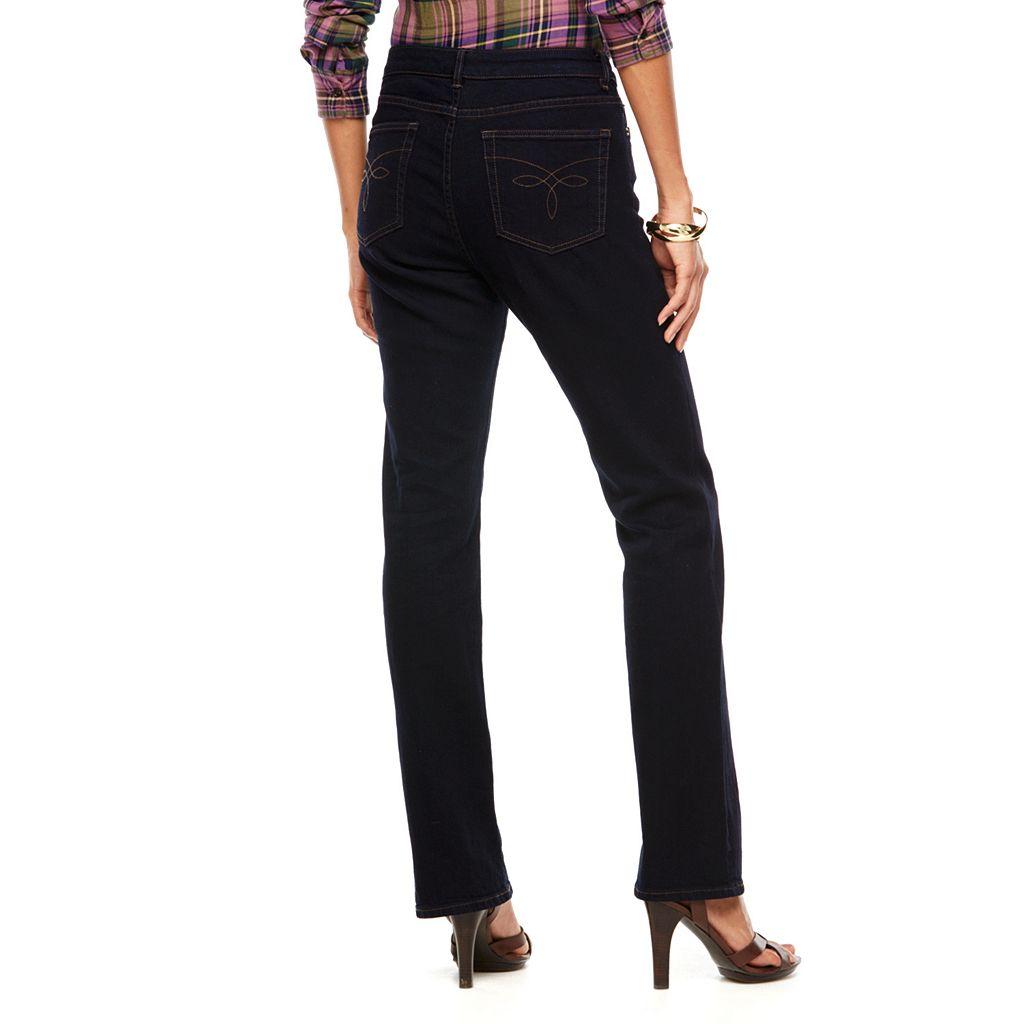 Chaps Curvy Straight-Leg Jeans - Women's