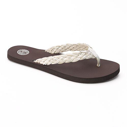 SO® Braided Thong Flip-Flops - Women