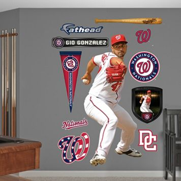 Fathead Washington Nationals Gio Gonzalez Wall Decals