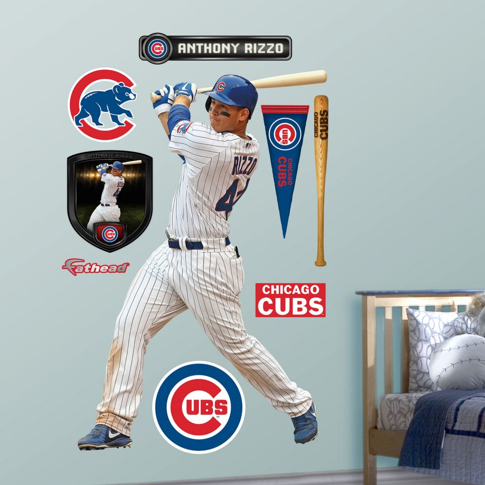 chicago cubs anthony rizzo wall decals fathead chicago cubs anthony rizzo wall decals