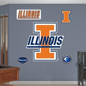 Fathead Illinois Fighting Illini Logo Wall Decals