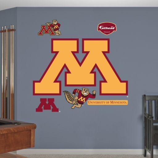 Fathead Minnesota Golden Gophers Logo Wall Decals
